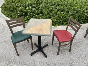 Restaurant Cafe chairs tables for Sale in Fort Lauderdale, FL