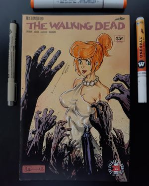 The Walking dead 163 vilma flintstones Original sketch Art for Sale in Los Angeles, CA
