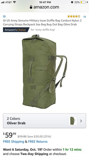 Duffle Bag US Genuine Military Issue New with Tags for Sale in Fresno, CA