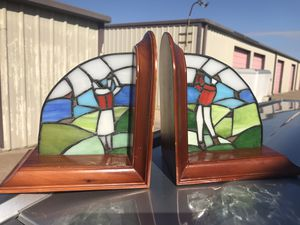 Stained Glass Golf Bookends for Sale in Denton, TX