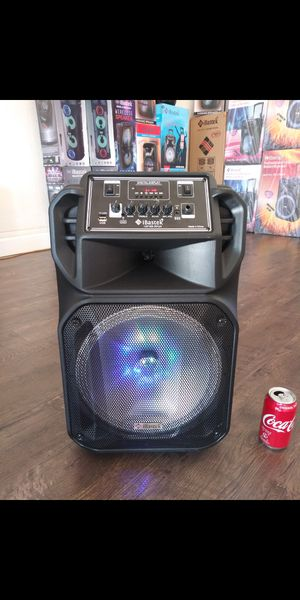 "Bocina Nueva Bluetooth Karaoke Speaker 12"" Woofer LED Lights / USB / MICRO SD CARD / FM RADIO 📻 . 📦 Rechargeable 🔋 +++ for Sale in Los Angeles, CA"