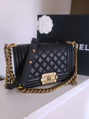 Chanel small boy grained calfskin bag for Sale in Houston, TX