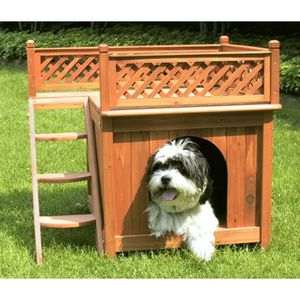 "Wooden Dog House, Cedar Stain, Small, 21.73""L x 28.54""W x for Sale in Los Angeles, CA"