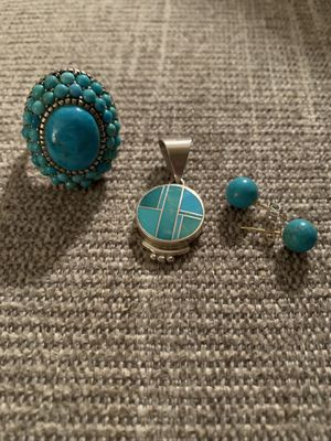 Group of Sterling Silver Turquoise Jewelry for Sale in Germantown, MD