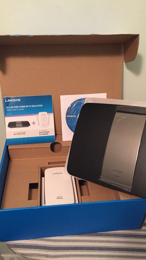 Linksys Wifi router and wifi extender set for Sale in Baltimore, MD