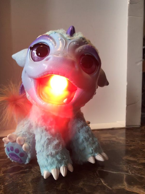 2015 Hasbro FurReal Friends My Blazin' Dragon Torch Interactive Animal. Batteries included! From smoke and pet free home.