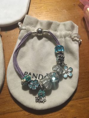 Retired Pandora Bracelet with European charms size large for Sale in Los Banos, CA