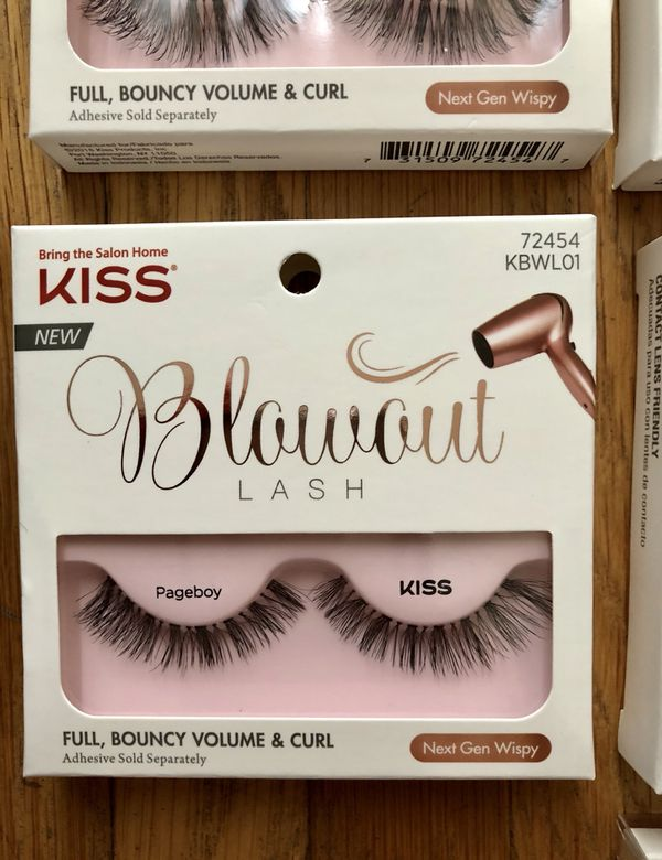 b54488f0ee1 Kiss Super Hold press-on nails and blowout eye lashes for Sale in ...