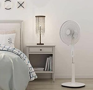 Pedestal Fan, 16-Inch Oscillating Stand Fan with 3 Wind Speeds, Double Blades, Height Adjustable, Wh for Sale in Hurst, TX