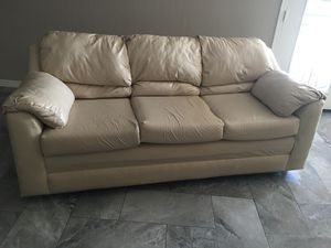 Semi new, Beige Leather Couches for Sale in Payson, AZ