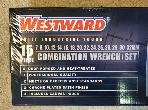 Westward 15 pc combination wrench set