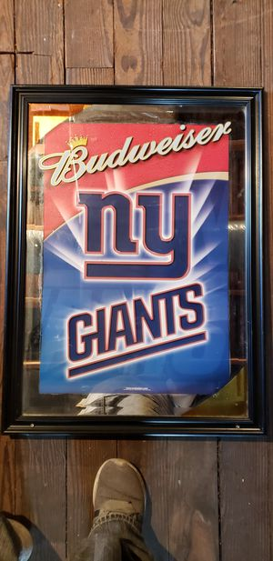 cuadro de Budweiser con foto de ny giagants for Sale in Paterson, NJ