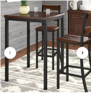 Wooden tall kitchen table for Sale in Mount Plymouth, FL