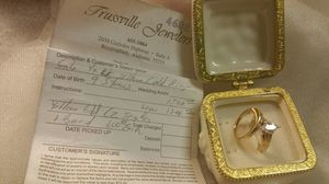 Yellow Gold Engagement Ring & Wedding Band for Sale in Center Point, AL