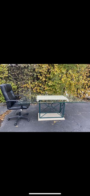 Whoever comes here first!!!! No Holds !!!!Free Office table and chair. FREE FREE FREE located at 8401 N Crawford Ave Skokie. for Sale in Evanston, IL