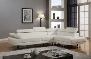 Brand new white leather sectional sofa for Sale in Silver Spring, MD