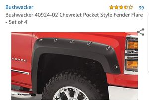 Bushwacker fender flares for a chevy/GMC 1500 for Sale in CRYSTAL CITY, CA
