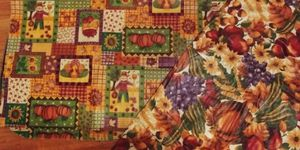 2 Harvest Tablecloths for Sale in Janesville, WI