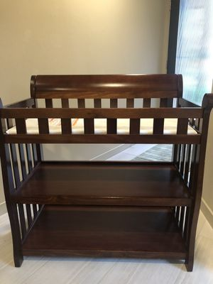Baby changing table, mahogany, 37 inches tall, very sturdy for Sale in Seattle, WA