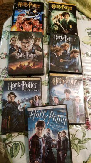 Like new 10 DVDs harry potter for Sale in Sunrise, FL