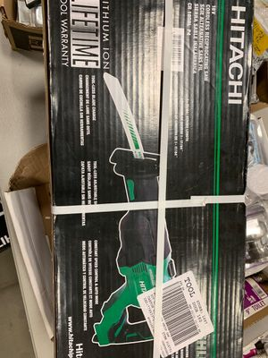 Brand new never used Hitachi Power Tools 18-Volt Variable Speed Brushless Cordless Reciprocating Saw for Sale in Bath, PA