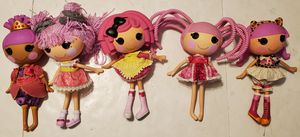 Lot of 5 MGA Lalaloopsy Dolls 12+ inch for Sale in St. Petersburg, FL
