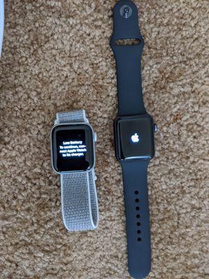 Apple watch series 4 and series 3 silver series 4 black series 3 for Sale in Montclair, CA