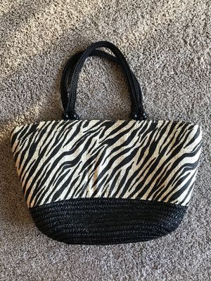 Zebra large beach bag for Sale in Molalla, OR