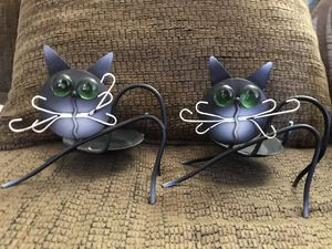Black cat / votive or tea lite/ for Sale in OH, US