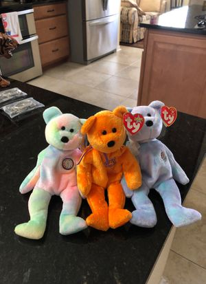 Beanie babies!! BB Bear, Celebrations, and Issy!!! for Sale in Largo, FL