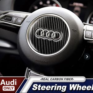 Car Interior Carbon Fiber Steering Wheel Buttons Stickers For Audi A3, A4, A5.A6, Q3 for Sale in Los Angeles, CA