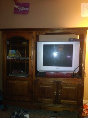 Wooden entertainment center for Sale in Joplin, MO