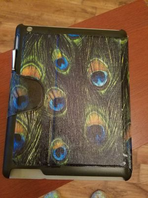 Nice Peacock Design IPad cover case with a Stylus pen included. 9 1/2 inces length x 7 1/2 inches width. for Sale in San Benito, TX