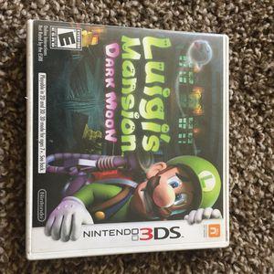 Luigis Mansion Dark moon Nintendo for Sale in San Diego, CA