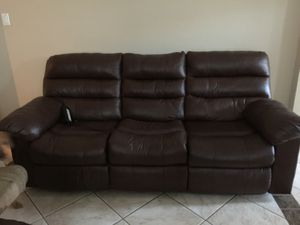 Leather power recliner sofa for sale for Sale in Sugar Land, TX