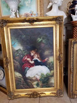 Beautiful painting in canvas w wood frame for Sale in Tampa, FL