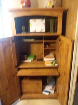 Cabinet with desk inside for Sale in Bentonia, MS
