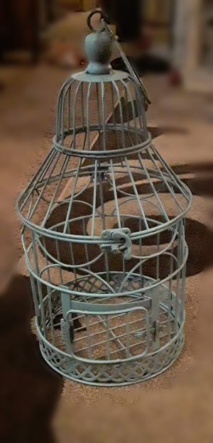 Decorative Blue Birdcage for Sale in Tacoma, WA