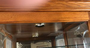 Large Wood Curio Cabinet for Sale in Bethalto, IL