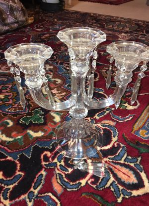 Three tier crystal glass candle holder for Sale in West Springfield, VA