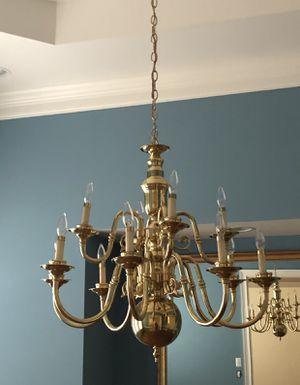 Large brass chandelier $80 for Sale in Richmond, VA