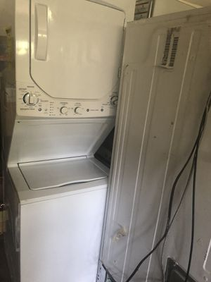GE and Whirlpool. 1 stackable washer/dryer and 1 double door refrigerator. Bundled for $250 for Sale in Bowie, MD