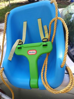 Little Tikes Swing With Two Hooks To Hang And Seat Has Buckle In Straps To Hold Child Safe And Secure for Sale in Chesapeake, VA