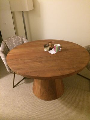 Crate and barrel wood dining table for Sale in Boston, MA