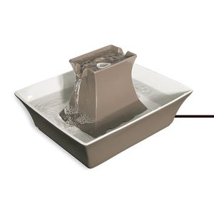 Gray Taupe Stoneware Pagoda Fountain for Pet Indoor Use for Sale in Los Angeles, CA