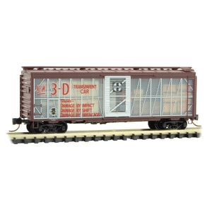Used, Micro Trains 020 00 187 N Scale ATSF Santa Fe Impact 40' Boxcar Road #10000 for Sale for sale  Riverside, CA