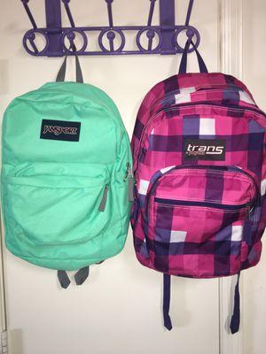 Jansport backpacks mint green or pink purple checkered gingham for Sale in El Mirage, AZ
