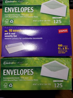 3 Boxes of Security-Tint #10 Envelopes for Sale in Garden Grove, CA