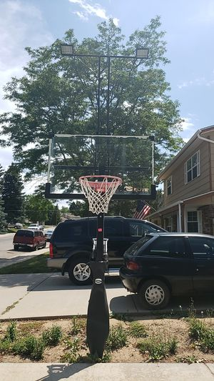 Elite fixed basketball hoop with lights for Sale in Centennial, CO