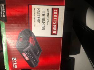 Craftsman 60v maxLithium ion battery for Sale in Modesto, CA